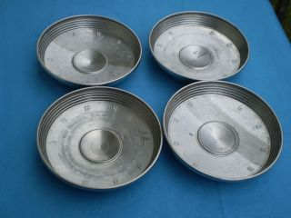 1961 62 63 64 Ford Galaxie 500 Fairlane Dog Dish Poverty Hub Caps Lot