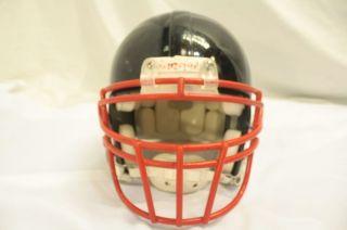 Riddell VSR 4 Football Adult Black Helmet Red Monster Open Top