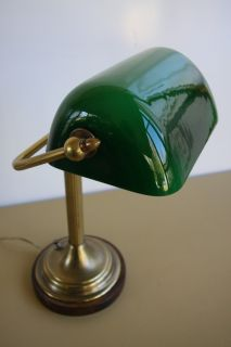 Green Cased Glass Frederick Cooper Chicago Student Bankers Desk Lamp