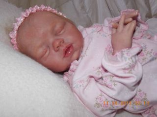 Reborn baby girl Amber by Pat Moulton real looking baby realistic skin