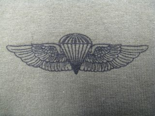 USMC Force Recon T Shirt Expert Parachute Badge T Shirt