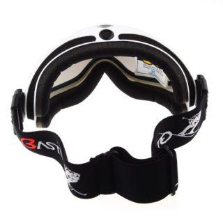 Cool Basto Anti Fog Dual Lens Sport Ski Snowboard Skiing Goggles White