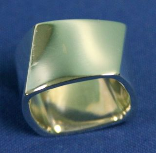 Tiffany Co Frank Gehry Torque Ring in Sterling Silver with Pouch