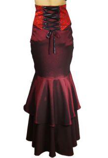 Dark Reaver Jacquard Bodice Corset Back Fishtail Skirt Gothic