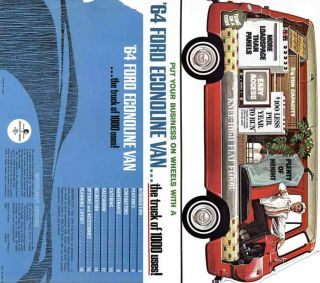 Ford 1964 Econoline Van   the truck of a thousand uses