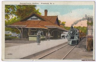 Pennsylvania Railroad Station Freehold NJ 1924