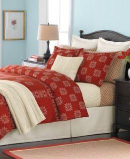 Martha Stewart Cross Stitch Flannel Queen Sheet Set