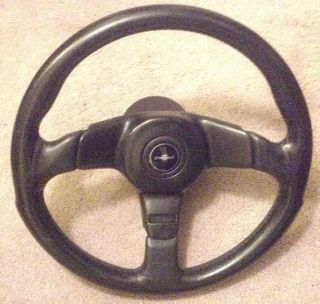 FITTIPALDI black leather 350mm steering wheel with build on Hub