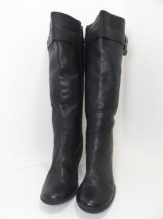 FITZWELL Tall Black Leather Boots Shoes Heels Womens Size 12