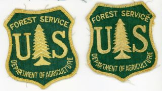 of Vintage Department Of Agriculture Forest Service Shoulder Patches