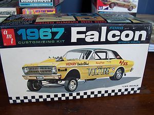 Vintage AMT 1967 Ford Falcon Car Model Kit WBX