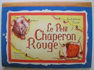 French Pop Up Book Red Riding Hood Chaperon Rouge