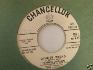 Promo Frankie Avalon Chancellor 1021 Blue Betty