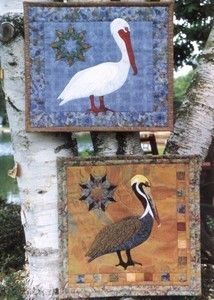 Pelicans Bird Applique Pine Meadows Quilt Pattern New