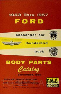 Ford Body Parts Book 1953 1954 1955 1956 1957 Car Truck Thunderbird