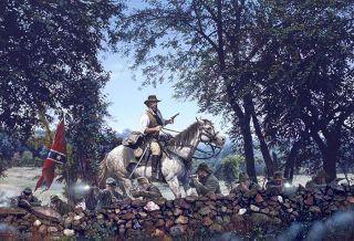 Crossroads John Paul Strain Civil War Print   Maj General Forrest