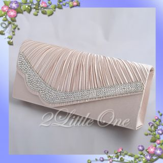 Satin Clutch Flap Bag Handbag Evening Wedding Bridal Party Prom
