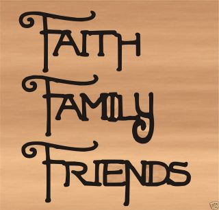 Metal Wall Art Faith Family Friends Lettering Words