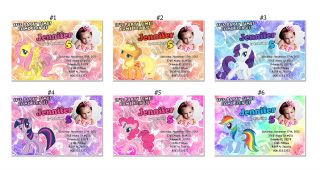 My Little Pony friendship is magic Custom Birthday Party invitations