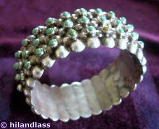 FRED DAVIS DESIGN 1930s VTG MEXICO MEXICAN STERLING SILVER & TURQUOISE