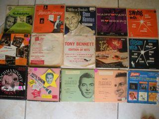 Lot of 15 45 Albums Records Artie Shaw Duke Ellington Gleason Jazz RCA
