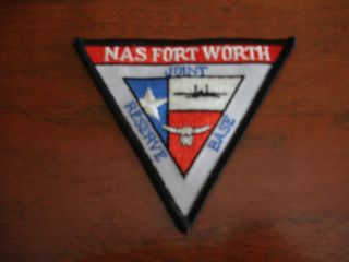 NAS FORT WORTH JOINT RESERVE BASE MILITARY PATCH USMC USN USAF