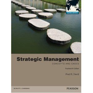 Strategic Management Concepts and Cases 14E by Fred R David 14th