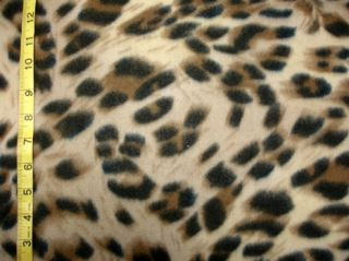 Cheetah Wild Cat Animal Spots Polar Fleece Fabric Antipill BTY