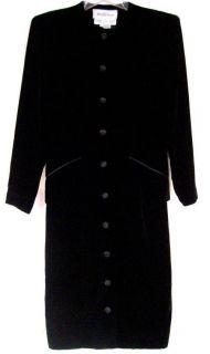 CHRISTYNE FORTI For Saks Fifth Ave Sz 6 Cocktail Dress Black Velvet