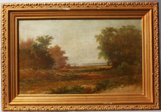 HUDSON RIVER SCHOOL LANDSCAPE FREDERICK DeBourg RICHARDS OIL PAINTING