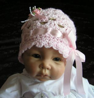 So Cute Crochet Beanie Hat to Suit 19 21 Reborn Doll or Newborn Baby