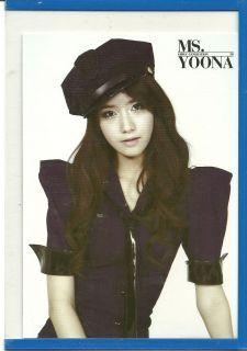 2011 GIRLS GENERATION SNSD MR TAXI YOONA JUMBO PHOTO CARD KOREAN K POP
