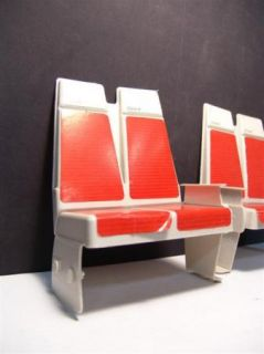 Playscale Miniature United Airlines Airplane Passenger Seats