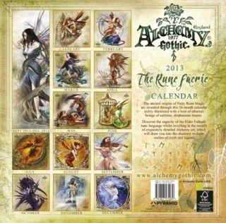 ALCHEMY Rune Faerie official 16 month 2012 2013 Calendar Fantasy Art