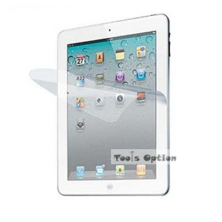 Black Apple iPad 2 Leather Case w Stand Free Protector