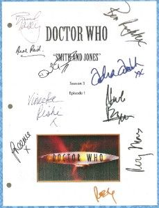 Doctor Who Smith Jones Movie Script Signed by 9x Rpt