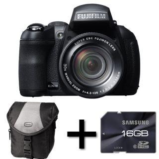Fujifilm FinePix HS30EXR Digital Camera Case and 16GB Memory Card