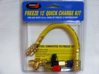 R12 TO FREEZE 12 REFRIGERANT HOSE CAN TAPPER Quick Charge Kit JOHSENS