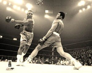 Muhammad Ali vs Joe Frazier I 3 8 1971 Classic Boxing Poster Print