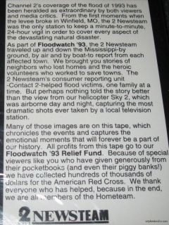 Flood Watch 1993 VHS St Louis Channel 2 Mississippi New