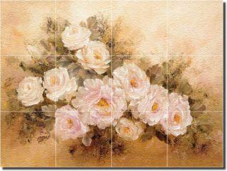 Cook Roses Flower Art Decor Glass Wall Floor Tile Mural
