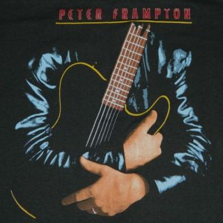 1986 Peter Frampton Vtg Tour T Shirt Humble Pie 80s Tee