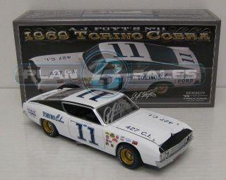 1969 A J FOYT 11 TORINO COBRA AUTOGRAPHED 1 24 NASCAR DIECAST
