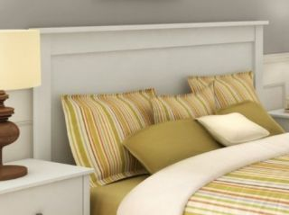 White Headboard for Full Size Double Bed New  Modern