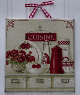 French Shabby Chic Cuisine Home Decor Picture Plaque