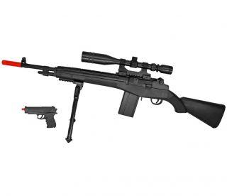NEW UKARMS P14 M14 SPRING AIRSOFT GUN SNIPER RIFLE w/ 6mm BB PISTOL