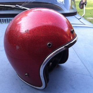 Arthur Fulmer AF40 Vintage Red Metalflake Helmet Medium