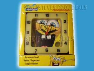 Spongebob Squarepants Alarm Clock Nickelodeon Kids Bedroom Fun Time