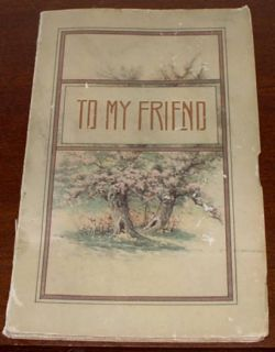 To My Friend by Wallace Frances Rice 1914 Poems Quotes on Friendship