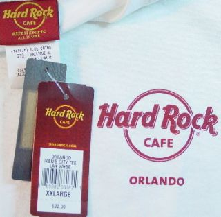 hard rock cafe orlando florida 2010 hot new white tee shirt adult men